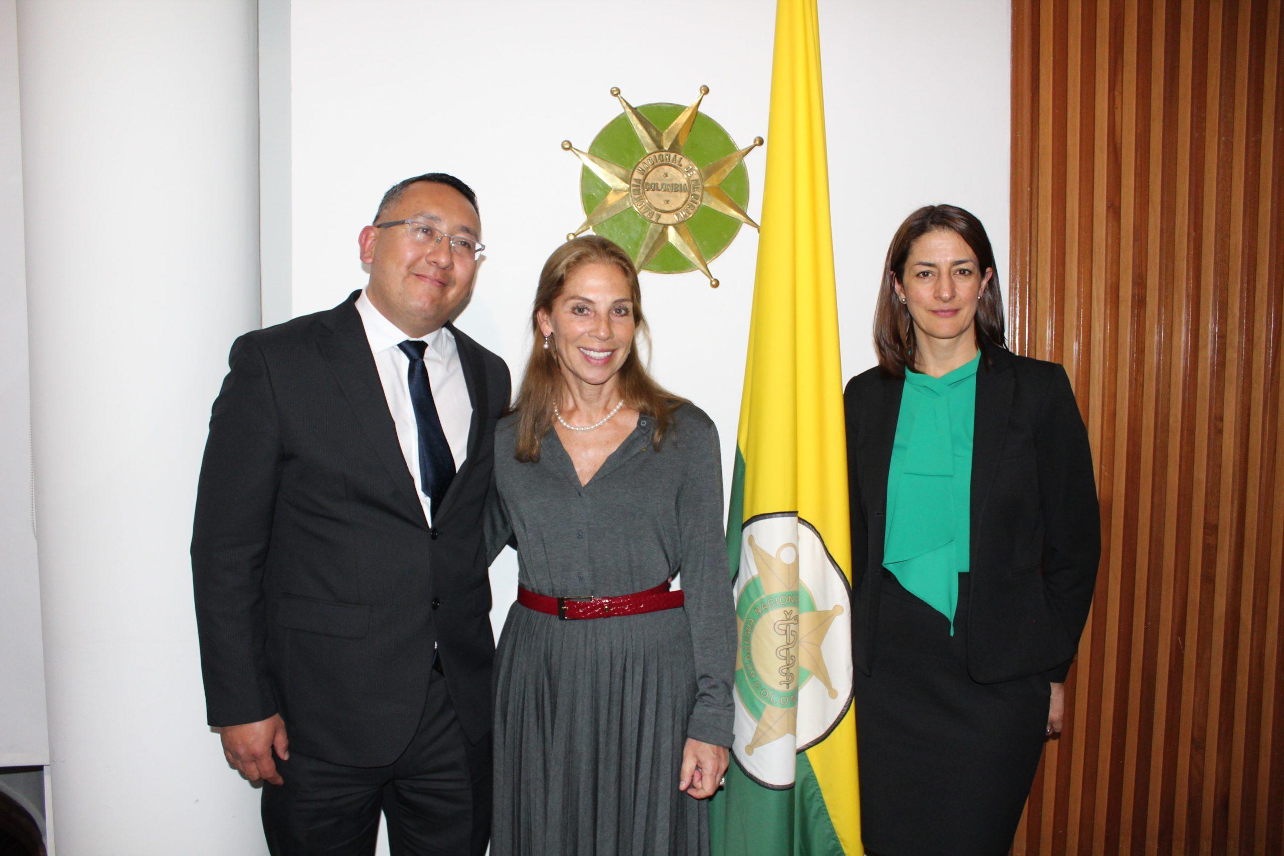 María Cristina Posada Álvarez y David López Daza, coeditores del libro
