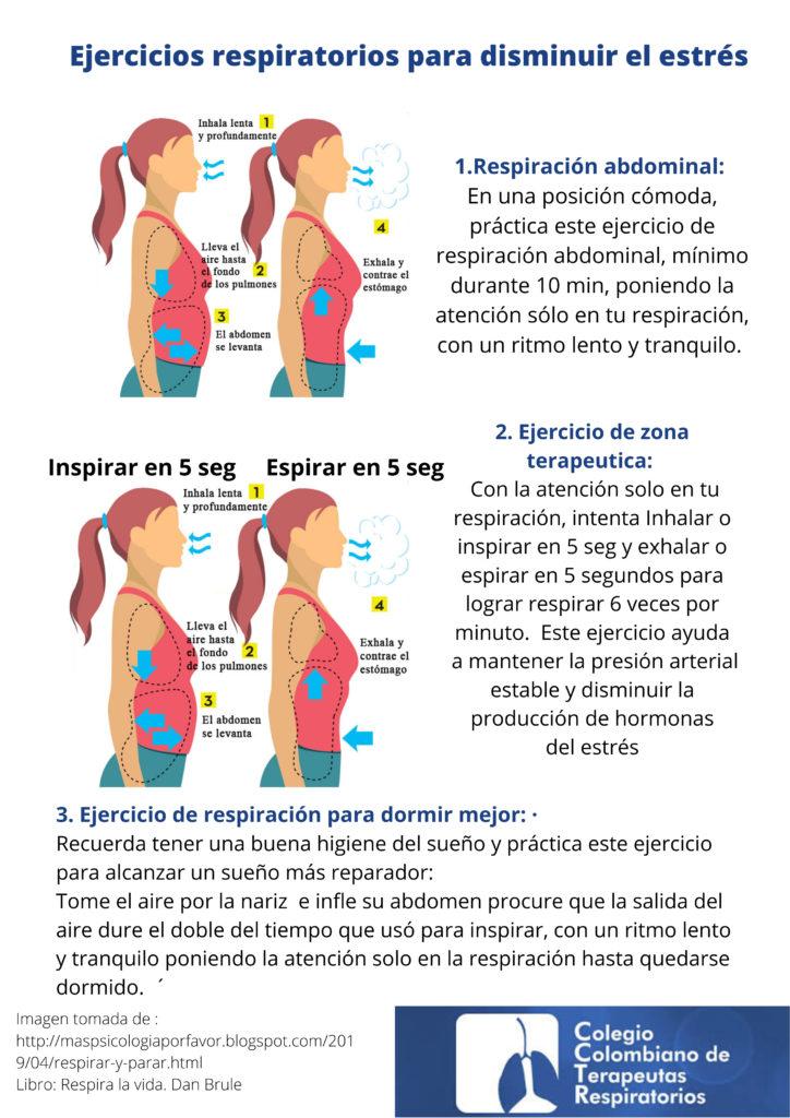 Ejercicios respiratorios para disminuir el estrés